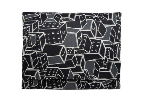 Places Spaces Faces Pillow (Black)