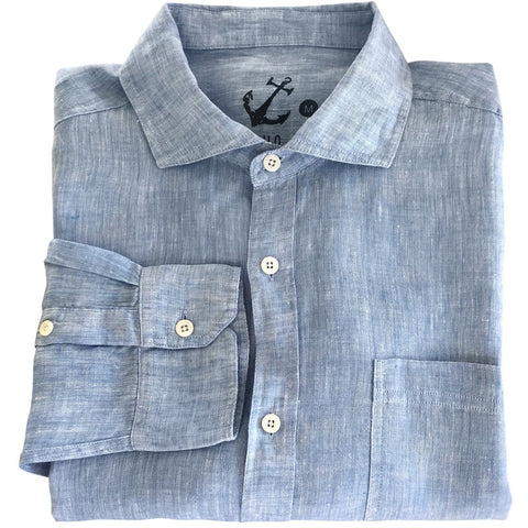 Chambray Linen Shirt LS