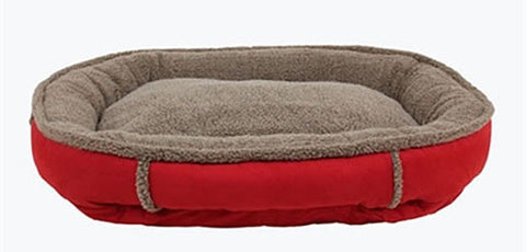 Faux Suede Round Cup Dog Bed