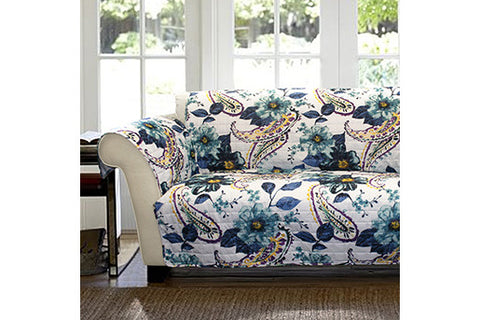 Floral Loveseat Protector Lush Decor