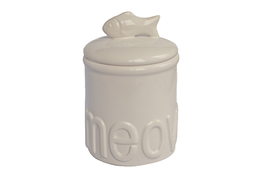Creature Comforts Quot Meow Quot Ceramic Cat Treat Jar Everybody