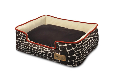 Pet PLAY Kalahari lounge dog bed brown/sangria