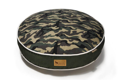 Pet PLAY Camouflage Round Dog Bed