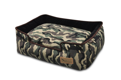 Pet PLAY Camouflage Lounge Dog Bed