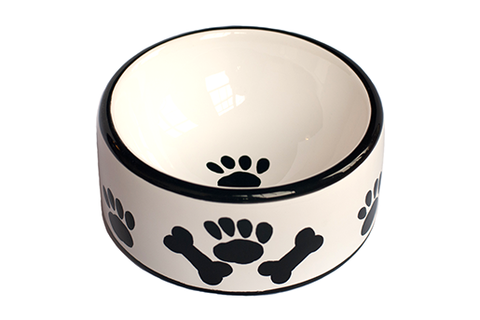 Creature Comforts Ceramic Round Dog Bowl