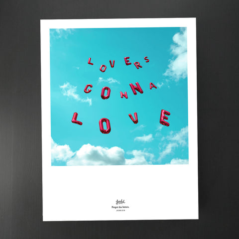 Lovers Gonna Love - Balloons <br /><em>giclée print</em>