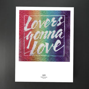 Lovers Gonna Love - Graffiti<br /><em>giclée print</em>