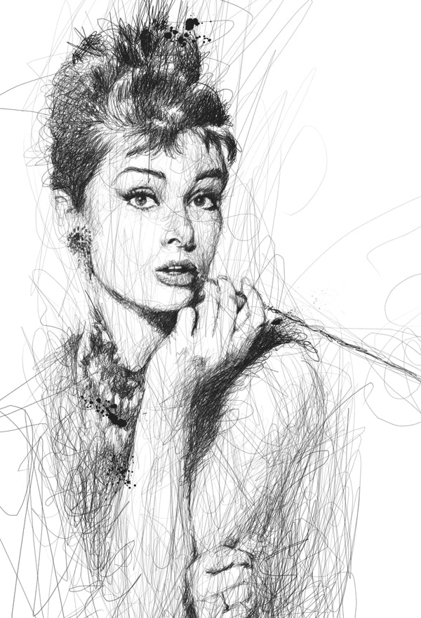 Scribble-Style Portraits by Vince Low
