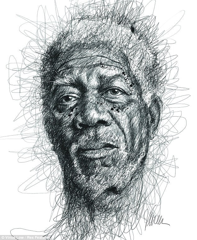 Portraits Made from Hundreds of Scribbled Lines