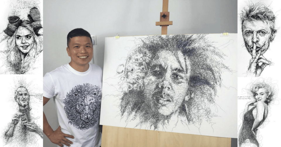 VINCE LOW: SCRIBBLE ARTIST DOODLES FOR A LIVING
