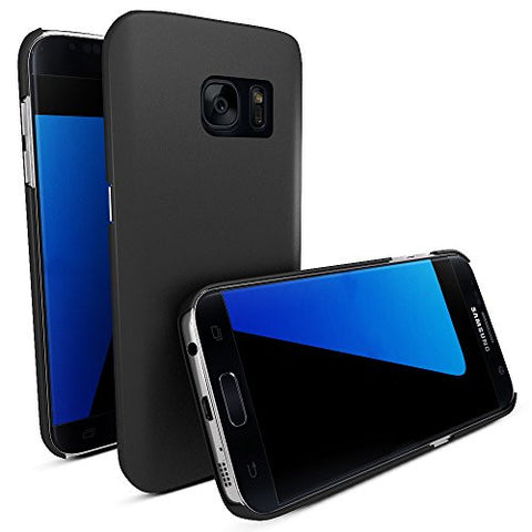 MTT® Shock Absorption Transparent Case for Samsung Galaxy S7 (2016) (Rubber Black)