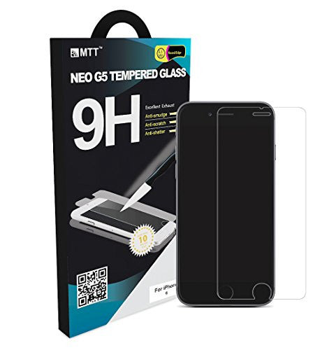 MTT Tempered Glass Screen Protector Guard for Apple iPhone 6S / 6 for Space Grey Model