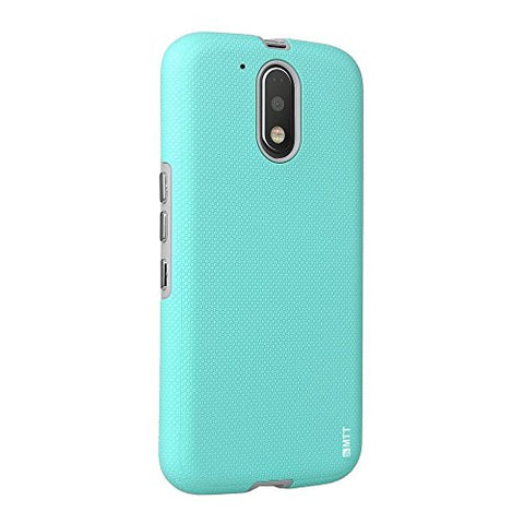 MTT Shock Absorption Dual Layer Rugged Armor Case Cover for Moto G4 Plus & G4 (Blue)