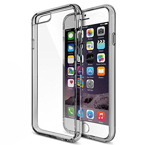 MTT NON SLIP NEO FIT IP6 SMOKE BLACK Non Slip Shock Absorption Case for iPhone 6S / 6 Case - Crystal Clear Transparent Back with Multi TPU Bumper - Perfect Non Slip Grip and Corner Protection (SMOKE BLACK)