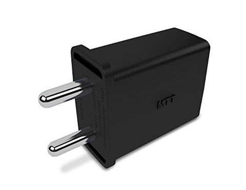 MTT 1A Single Port USB India Plug Wall Charger Adapter – Black