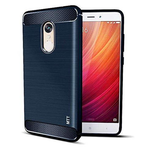 MTT Shock Absorption Armor Back Case Cover for Xiaomi Redmi Note 4 (NAVY)
