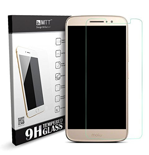 MTT Premium Tempered Glass Screen Protector Guard for Moto M