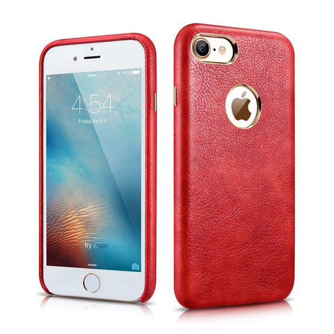 MTT Apple iPhone 7 Premium Leather Back Cover Case (Red)