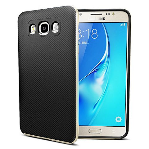 MTT Dual Layer Tough Armor Back Cover Case with Heavy Duty Protection for Samsung Galaxy J7 2016 (Gold)