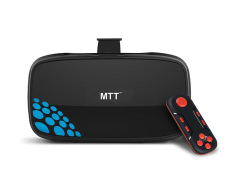 MTT 3D Virtual Reality Headset Glass - Advanced VR for iPhone 7/ 6s / 6 / 5 , Samsung, Motorola, Lenovo, Xiaomi, Nexus, OnePlus, Sony Smartphones (VR+REMOTE)