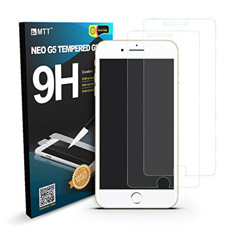 MTT Apple iPhone 7 Plus Premium Quality Tempered Glass Screen Protector Guard (2-PACK)