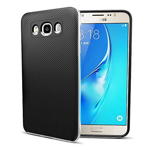 MTT Dual Layer Tough Armor Back Cover Case with Heavy Duty Protection for Samsung Galaxy J7 2016 (Space Grey)