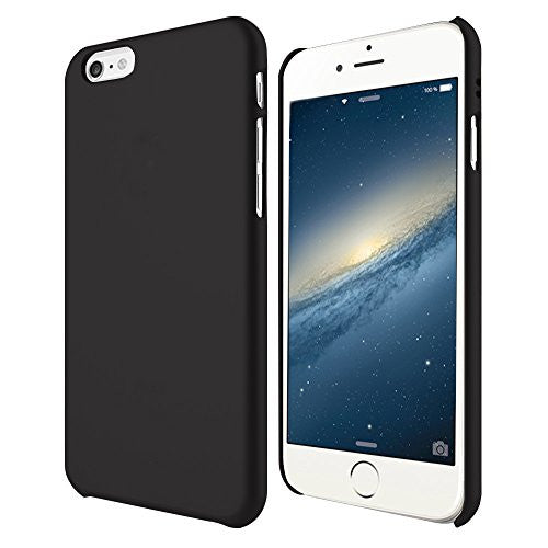 MTT® iPhone 6S / 6 Case Slim Fit Apple Logo Display Premium PC Case (BLACK)