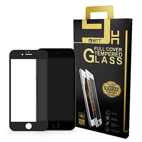 MTT IP6-FC-3D-Carbon-Black Full Body Tempered Glass Screen Protector Guard for Apple iPhone 6S / 6,(Black)