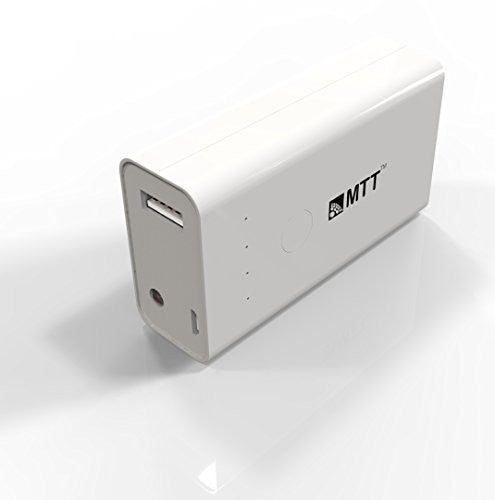 MTT Airpower-5i 5200 mAH Powerbank along with Apple MFI Certified lightning Cable - Premium Quality Powerbank - White