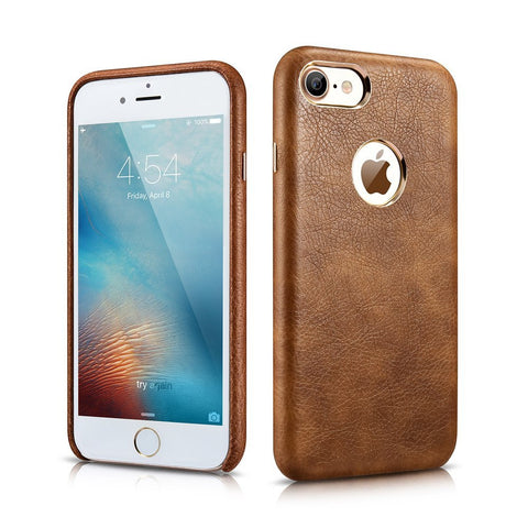 MTT Apple iPhone 7 Premium Leather Back Cover Case (Brown)