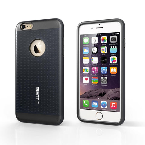 MTT Circ Fit Shock Absorption Back Case for iPhone 6S / 6 Plus - Gunmetal