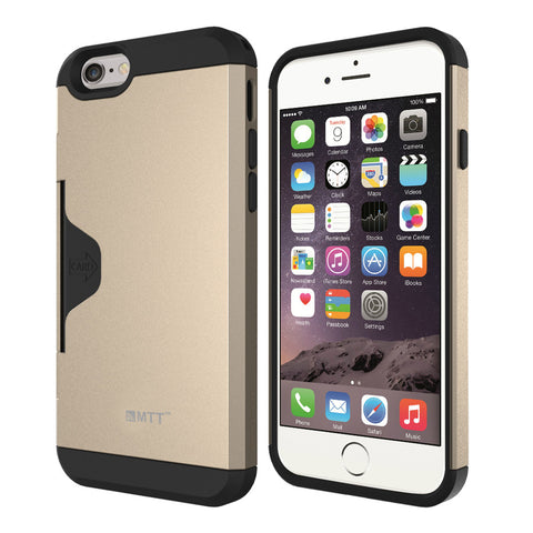 MTT Golf Fit Shock Absorption Case for iPhone 6S / 6 - Champagne Gold