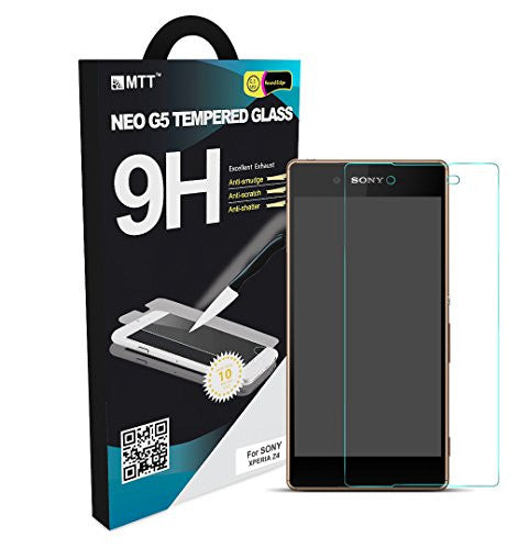 MTT® NEO Premium Tempered Glass Screen Protector for Sony Xperia Z4 [ 2.5D Round Edge ] [ Easy Install ] [Anti Scratch ] [ HD ] - Protect your screen from Scratches & Drops – Maximize your resale value – 100% clarity and touch Screen Accuracy