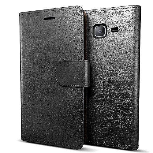 MTT® Premium Leather Flip Wallet Case with Card Slot for Samsung On7 Pro / On7 (Black)