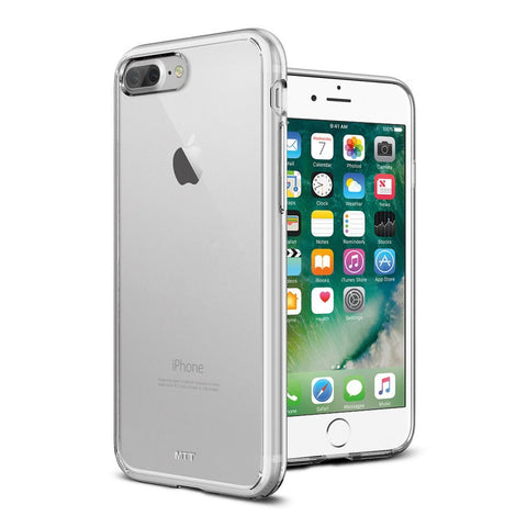 MTT Apple iPhone 7 Plus Case - Shock Absorption Crystal Clear Back with TPU Bumper for Corner Drop Protection (Transparent)