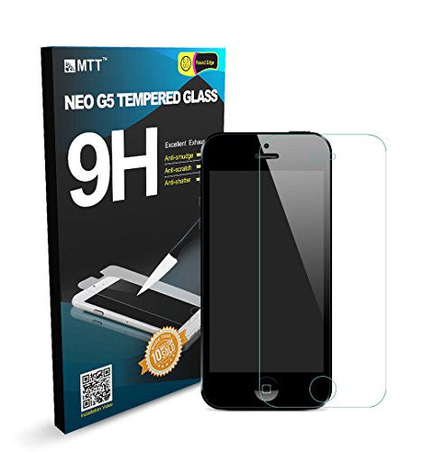 MTT Tempered Glass Screen Protector Guard for Apple iPhone 5SE 5 5C 5S