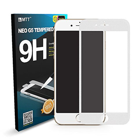 MTT 3D Fiber Full Body Tempered Glass Screen Protector Guard for Apple iPhone 6S / 6 - White