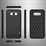 MTT Rugged Armor Shock Proof Carbon Fiber Case Cover for Samsung Galaxy On8 (Black)
