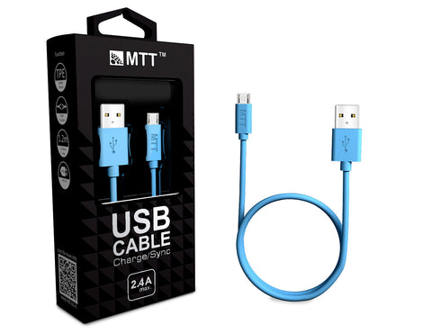 TPE Micro USB Cable - Fast Charging , Incredibly Durable and Premium Quality-Blue
