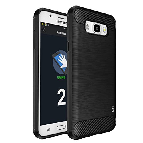 MTT Rugged Armor Shock Proof Case Cover for Samsung J7 2016 (SM-J710F) (Carbon Black)