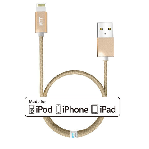 MTT Apple Certified Nylon Braided Lightning to USB Cable