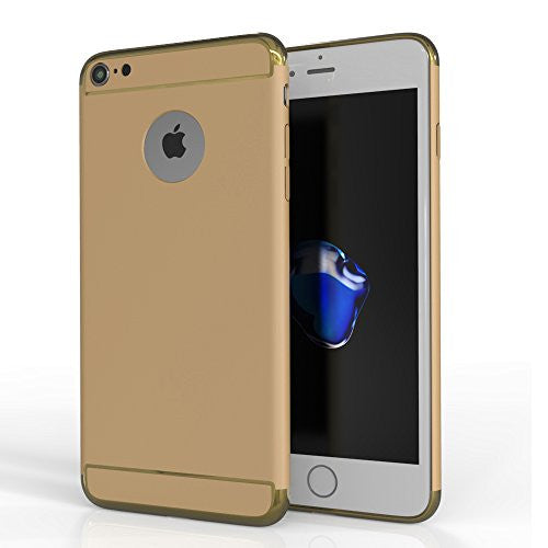 MTT Slim Fit Electroplate outer frame Case Cover for Apple iPhone 7 (Gold)