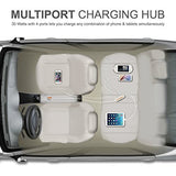 MTT® 4 Port 6 Ampere Advanced IC Smart USB Car Chargers Hub