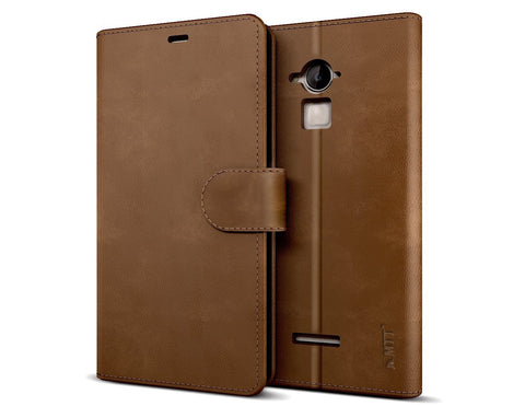 MTT Premium PU Leather Wallet Case for Coolpad Note 3 (Brown)