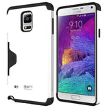 Galaxy Note 4 Case - MTT® GOLF FIT [Dual Layer] [Credit Card Holder] [Heavy Drop Protection] - Ultimate protection from drops and impact - White