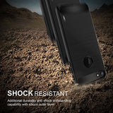 MTT Rugged Armor Shock Proof Case Cover for iPhone 7 (Black)