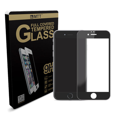 MTT® Full Body Silicon Edge iPhone 6S / 6 Tempered Glass – Black
