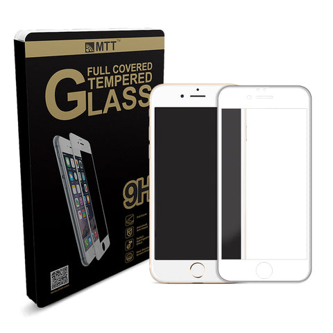 MTT® Full Body Silicon Edge iPhone 6S / 6 Tempered Glass– White