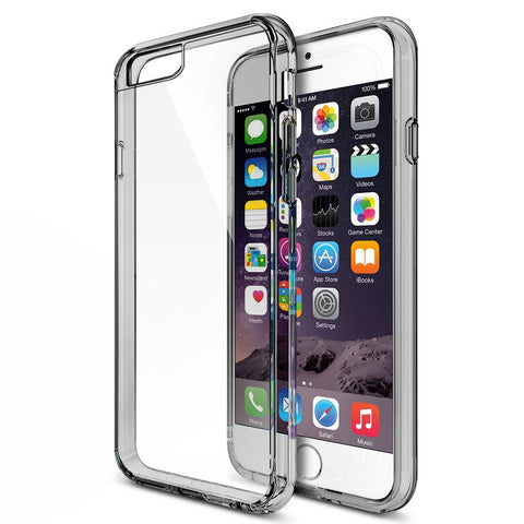 MTT® Shock Proof Bumper Transparent Case for IPhone 6S Plus / 6 Plus (Smoke Black)