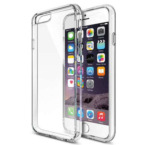Mtt non slip shock proof clear back case for iphone 6s Plus / 6 Plus - Transparent